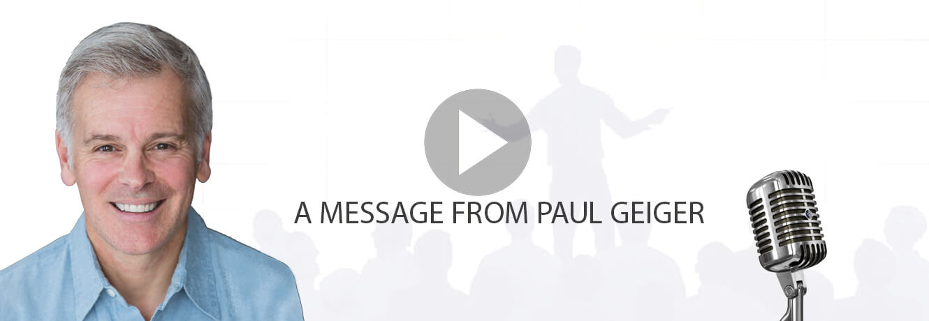 A Message From Paul Geiger